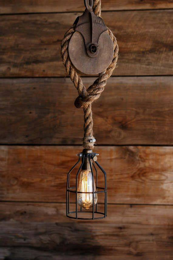 15 Diy Rope Hanging Light Ideas Decor Units