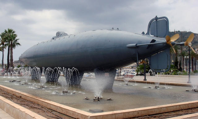 "The first electric-powered submarine, ""Peral Submarine"" launched in 1888, was also invented in Spain by a Spanish Engineer and sailor, Isaac Peral y Caballero."