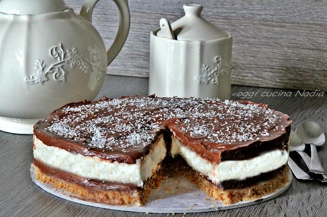 cheesecake nutella e cocco