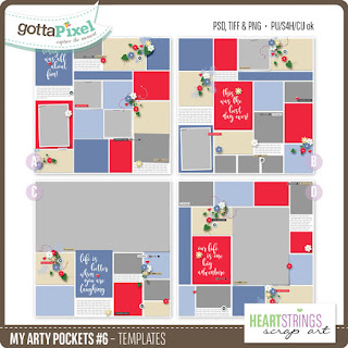 Heartstrings Scrap Art Templates