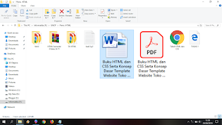 Hasil convert word ke file PDF di word 2010