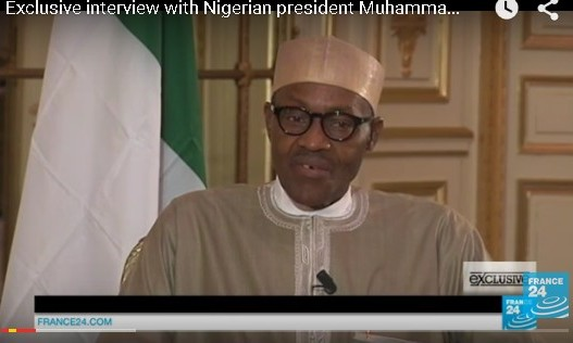 Watch Video: Buhari's interview with France 24 in Paris