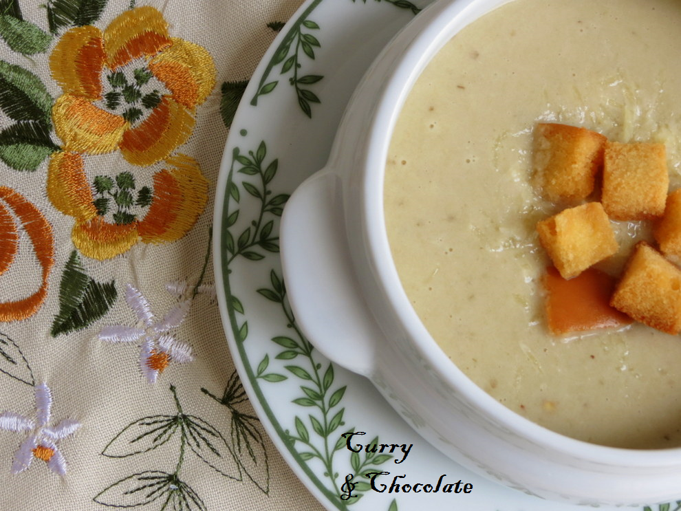 Crema de berenjenas al queso viejo – Creamy eggplant soup with cheese