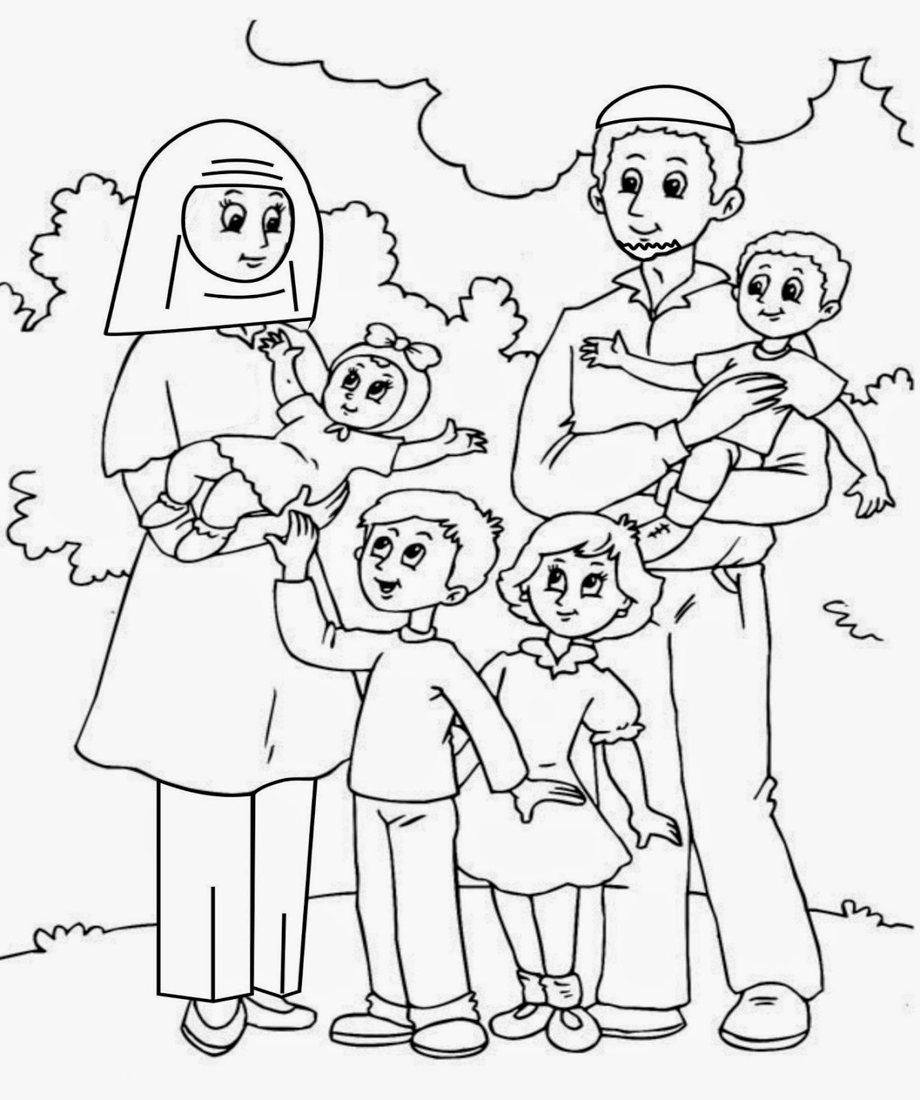 Gambar Mewarnai Keluarga