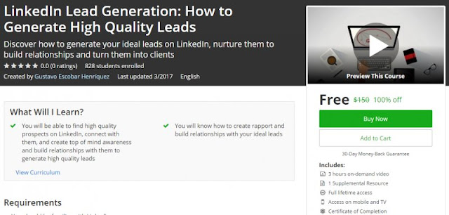 [100% Off] LinkedIn Lead Generation: How to Generate High Quality Leads| Worth 150$