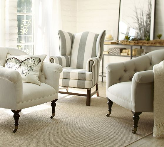 Traditional Wingback Chair Wooden Rocking Singapore Eye For Design Decorating With The It S Trendy While Is In Fabric Selection Rug And Accessories Make This A Current Chic Space