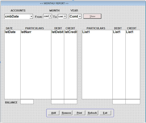 Source Coding Program Accounting v.1 Lengkap Di VB6