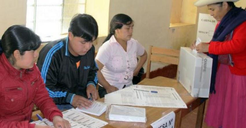 ONPE: Elegirán por sorteo a más de mil miembros de mesa - www.onpe.gob.pe