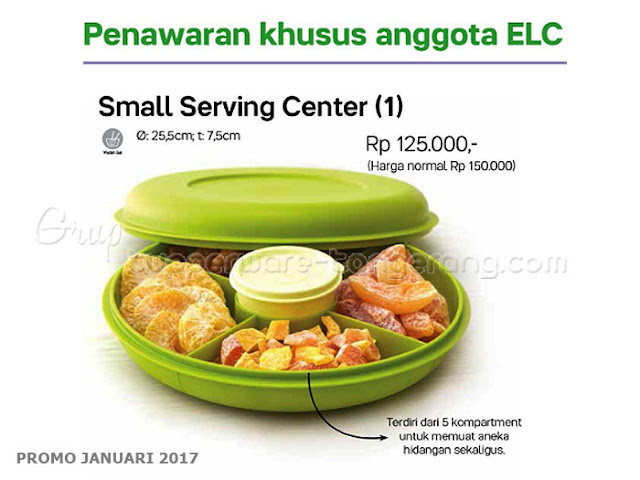 Small Serving Center Promo Tupperware Januari 2017