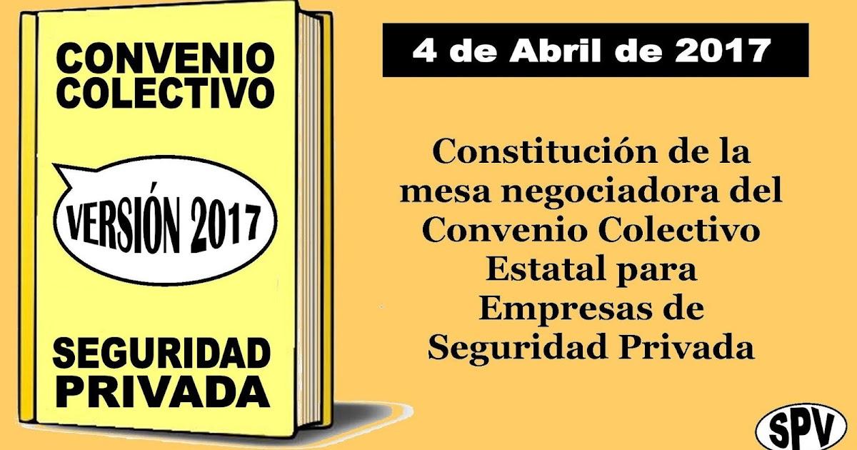 Sindicato s p v la mesa negociadora del convenio for Fuera de convenio 2017