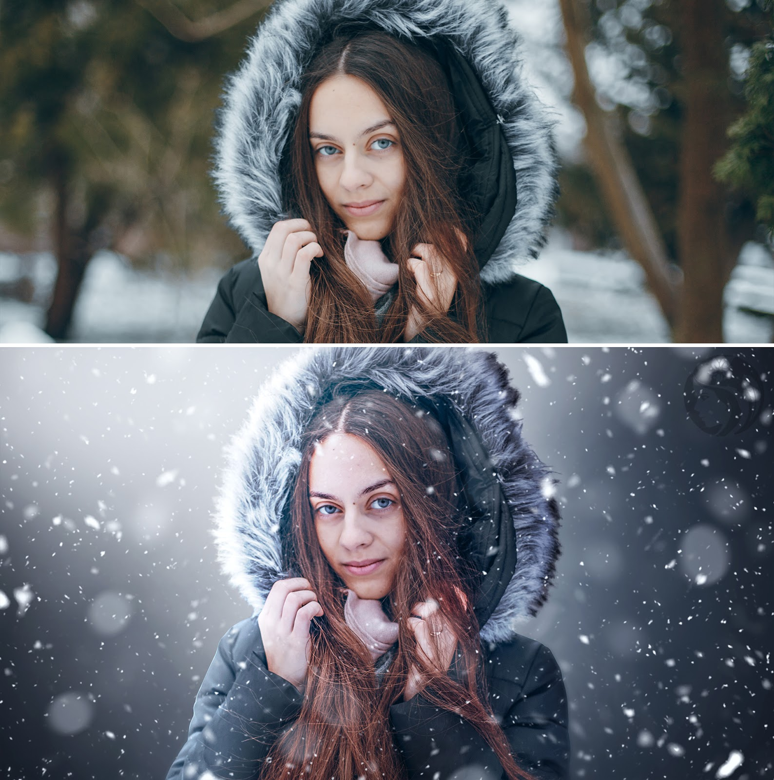 White winter portrait photoshop tutorial white light winter snowy white winter portrait photoshop tutorial white light winter photo effect baditri Images