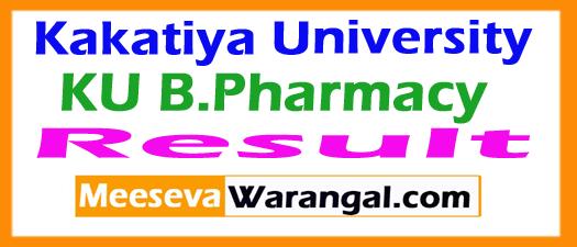 Kakatiya University KU B.Pharmacy Exam Results 2017