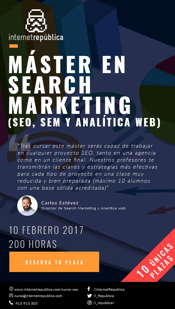 Máster en Search Marketing Fechas