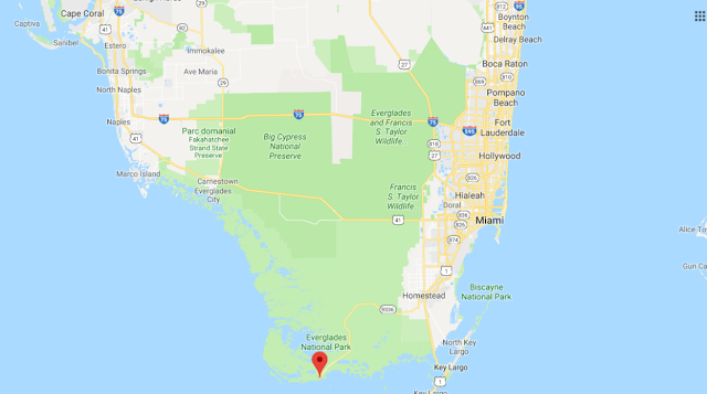Carte du Parc national des Everglades
