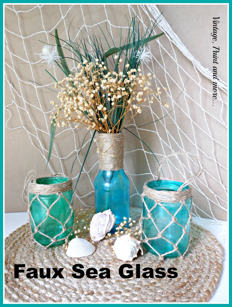 Vintage, Paint and more... tutorial to make faux sea glass