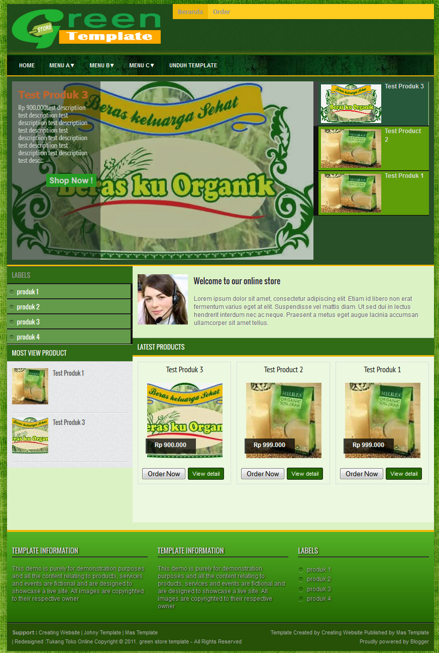 Green store template