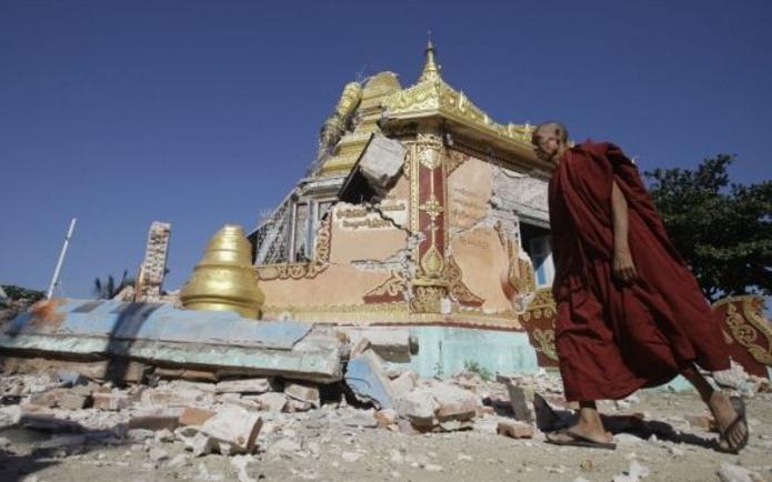 Gempa Guncang Myanmar, 171 Pagoda Hancur
