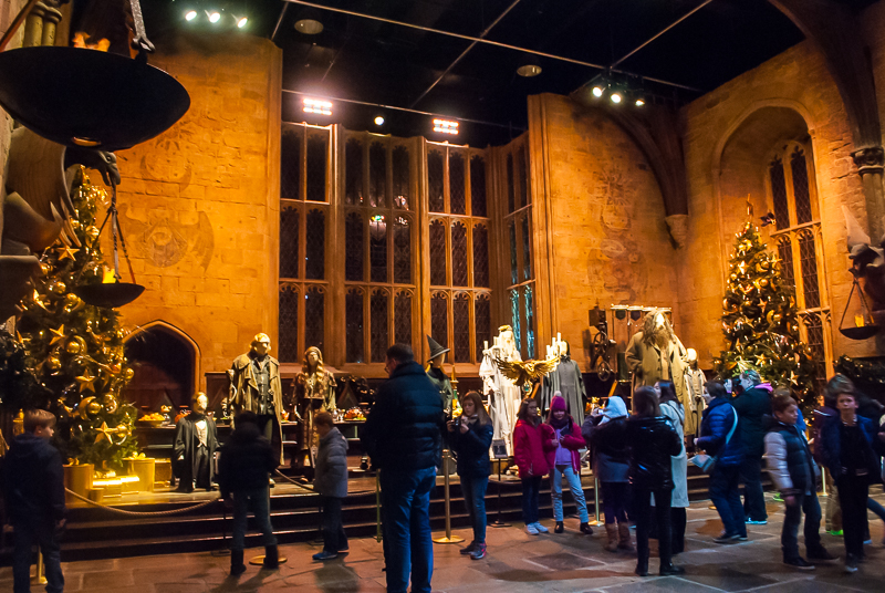 Harry Potter Studios, Engalnd Grand hall with professors in front of the hall