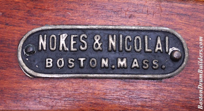 Nokes & Nicolai drum badge