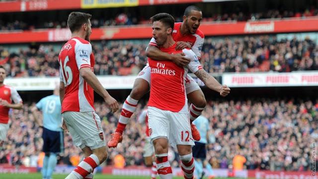 Arsenal Giroud and Theo Walcott