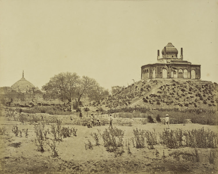 The Kudmsee Russol and Shah Mujeef in the distance - Lucknow c1858