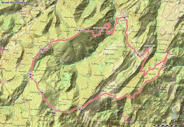 Mapa ruta Linares, Buey Muerto y La Loral