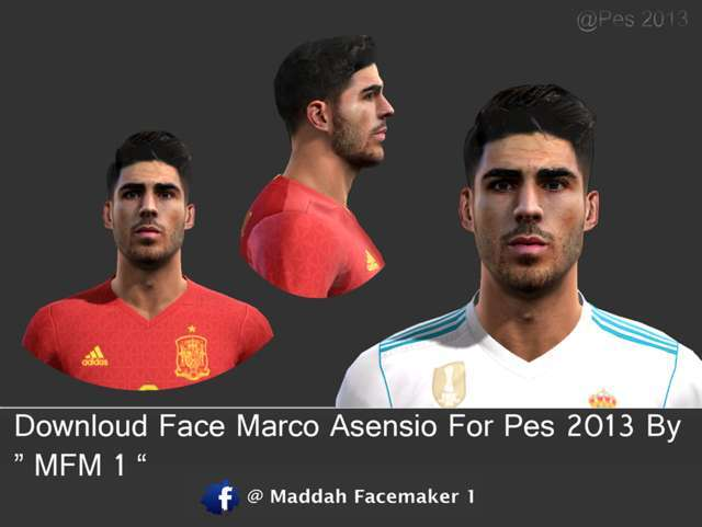 Face Marco Asensio For PES 2013