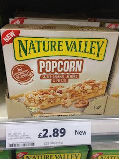 Nature Valley Popcorn Salted Caramel Almond Pretzel Bars