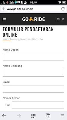 Cara Daftar Gojek Online Via Smartphone