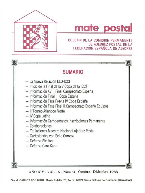 Mate Postal Nº64-Octubre-Diciembre-1988