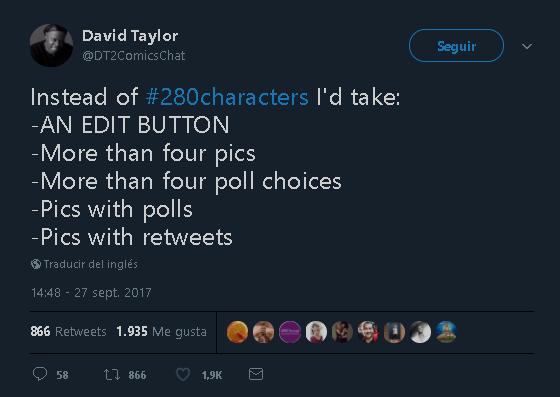 En lugar de #280caracteres, yo preferiría: