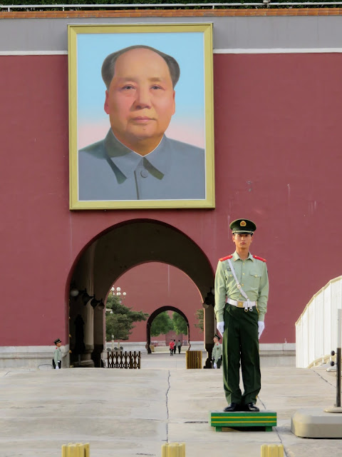 Portrait of Chairman Mao on Tiananmen Square in Beijing China