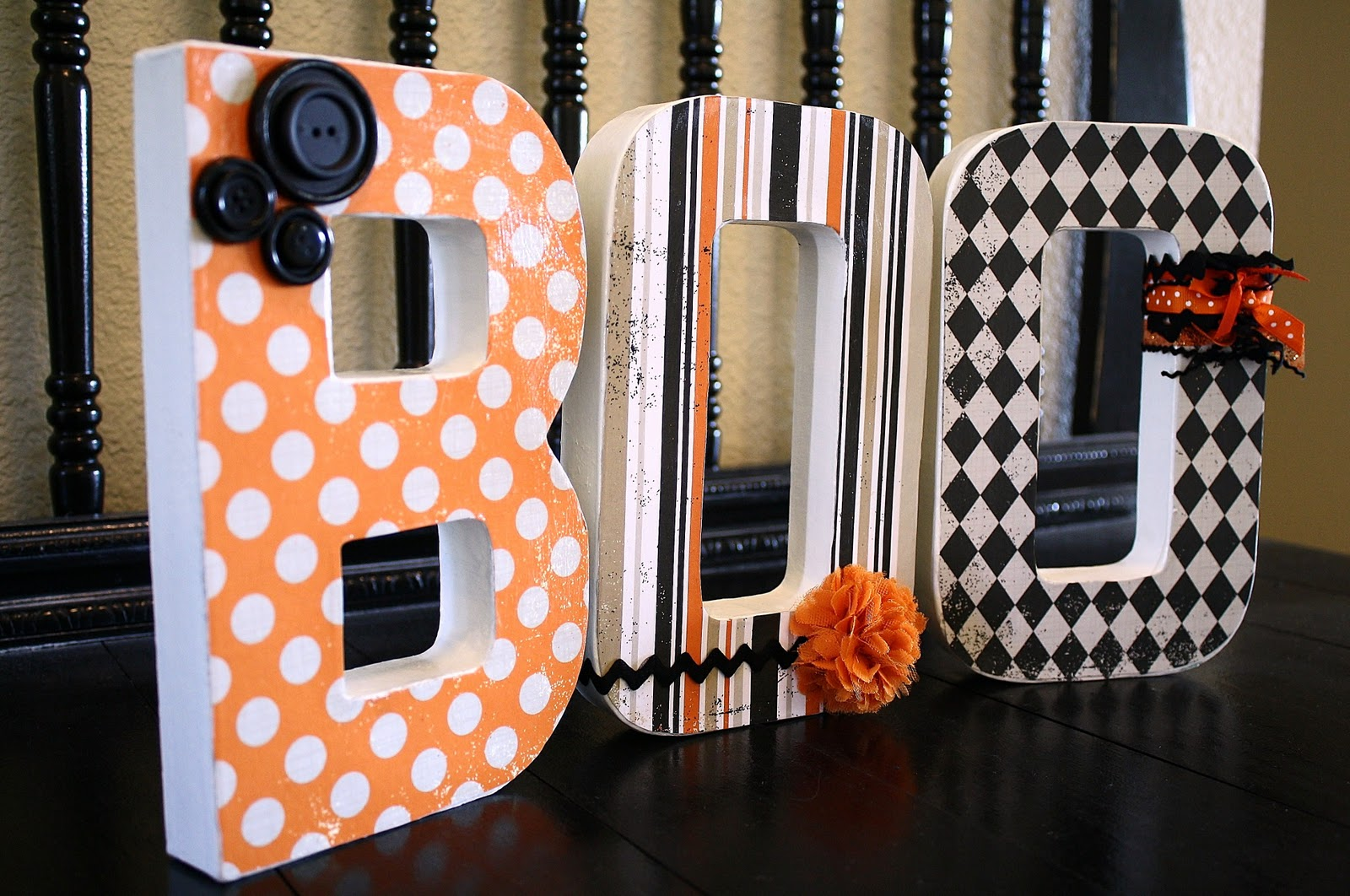 decorated boo letters