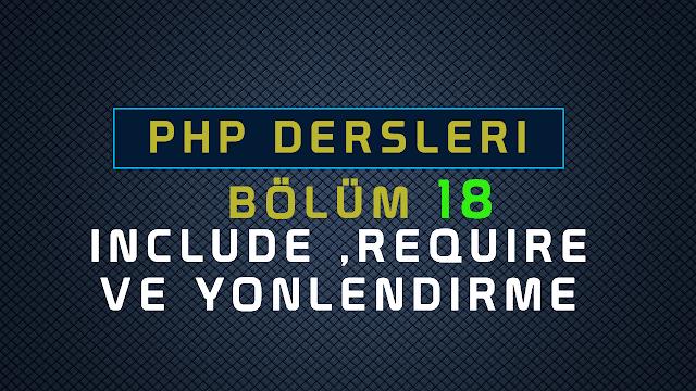 php include kullanımı