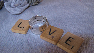 the word love written with Scrabble letters