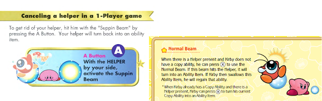 Kirby Super Star Ultra Suppin すっぴん Normal Beam cancel a Helper