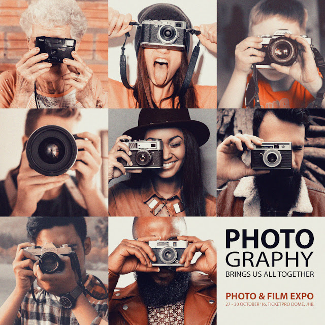 Africa's Largest #Photographic Event Starts 27-30 Oct @PhotoFilmExpo #Jozi