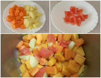 Rehogar patata, zanahoria y tomate