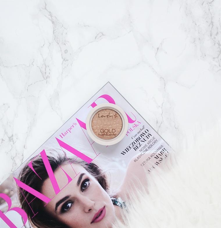 Ulubione kosmetyki 2016 roku - Makijaż - Lovely Gold Highlighter Rozświetlacz do twarzy