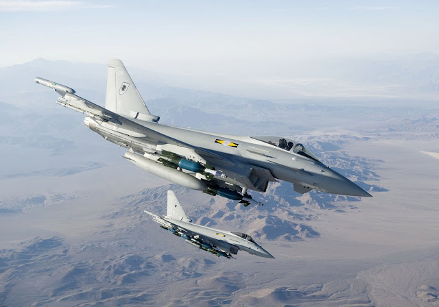 RAF TYPHOON FIGHTER JETS ARRIVE IN ROMANIA