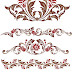 brown floral  elements  borders free dxf file