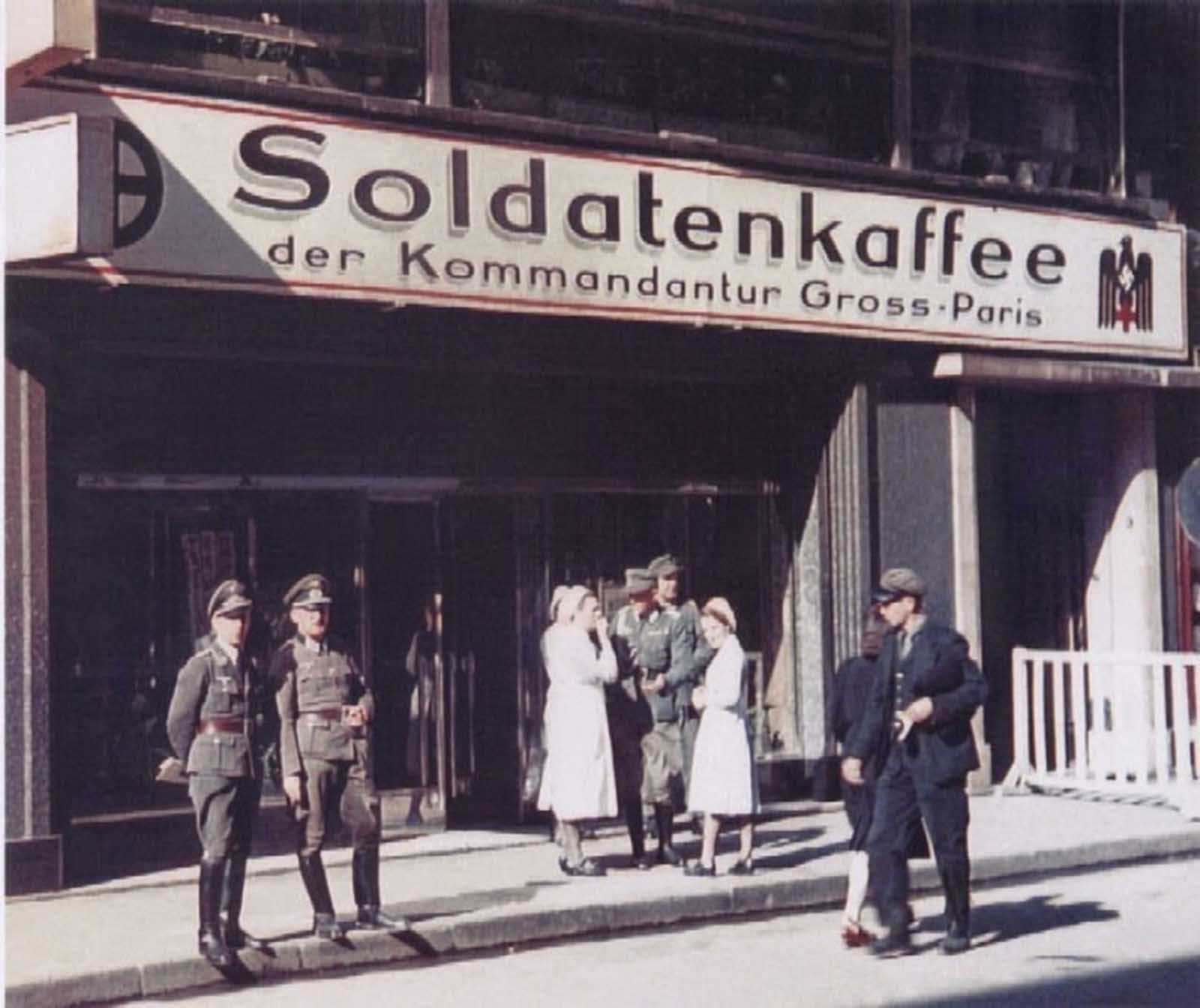 A coffee place for German soldiers. Great place to meet girls.