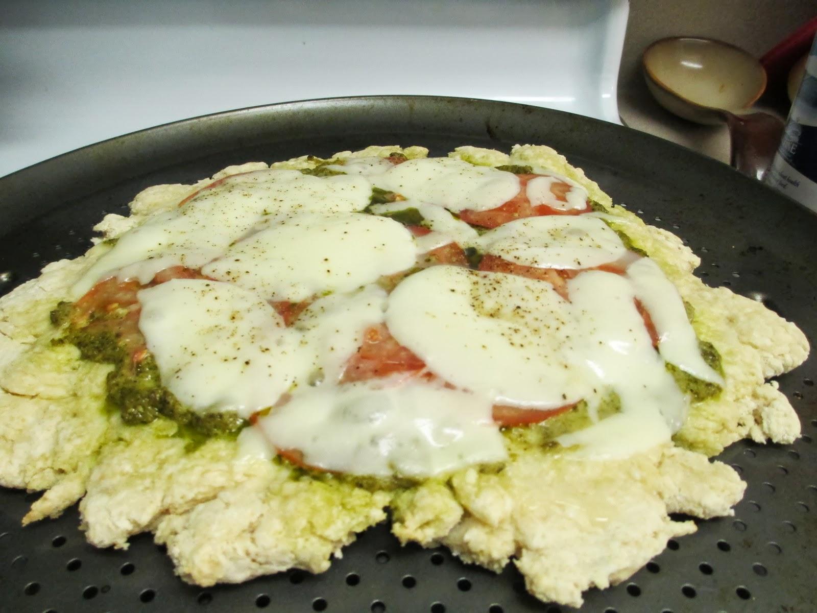 Gluten Free Mozzarella Pesto Pizza - #SundaySupper with ...