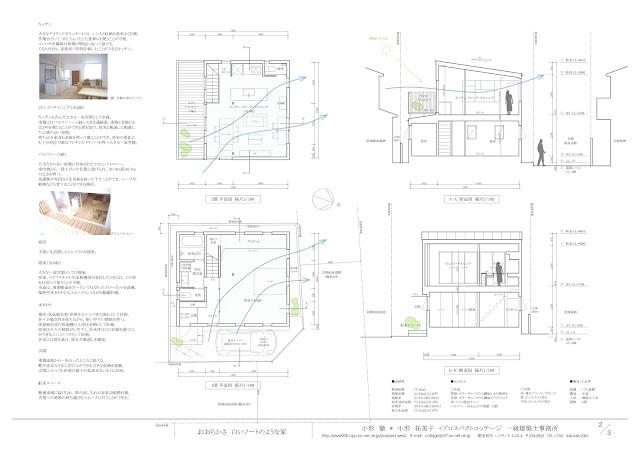 広がりと開放感のあるワンルームを上下に重ねた住まい 平面・断面計画