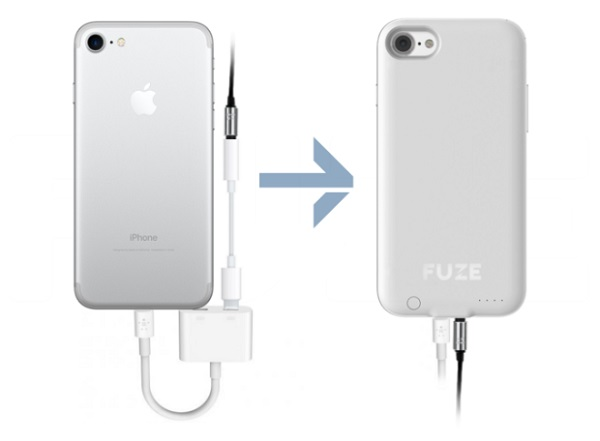 Meet 'Fuze': An innovative case for the iPhone 7 and 7 Plus that restores the phone's 3.5mm audio jack