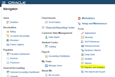 Oracle Fusion BIP Reports