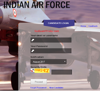 Indian Air Force AFCAT 2/2017 admit card