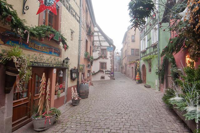 Riquewihr visitar Alsacia Navidad