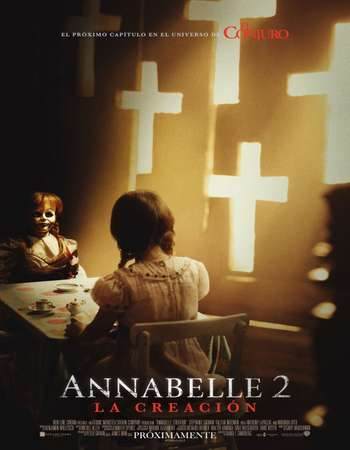 Poster of Movie Annabelle Creation 2017 English 700MB Free Download Via Resumable Single Links