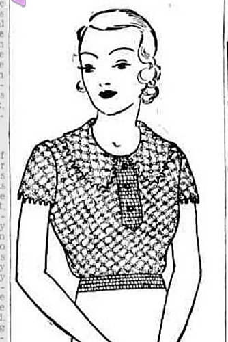 The Vintage Pattern Files: Free 1930's Crochet Pattern - Lacy Jumper